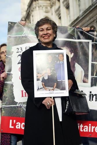 Consuelo Gonzalez @ Rassemblement pour le 6e anniversaire de la détention d'Ingrid Betancourt