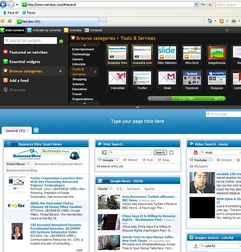 Business Wire Widgets on Netvibes Ginger