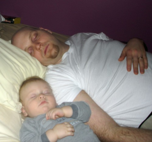 Owen and Daddy sleeping