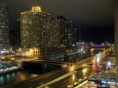 Chicago River - Night (loren1996) Tags: bridge columbus lake chicago night river drive long exposure slow michigan east shore shutter hyatt sheraton regency wacker