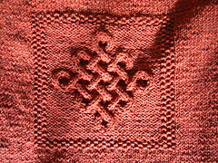 Celtic Knot Sweater WIP