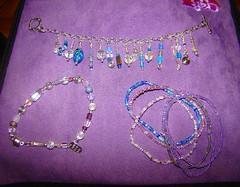 Celestial  purple and crystal and stretchies