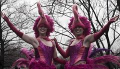 Flamingirls (Hayrr) Tags: street pink costumes girls portrait urban colour canon newcastle gateshead northeast newcastleupontyne saltwellpark 400d saltwellparkshow theworldinpink