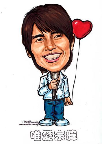 Caricature Yang Zong Wei 杨宗纬