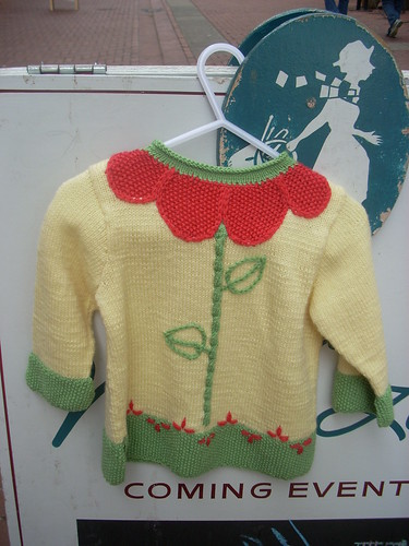 Baby Ull Flower sweater