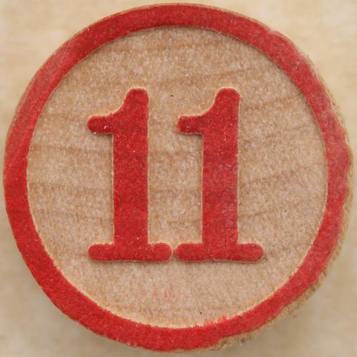 Bingo Number 11 by Leo Reynolds