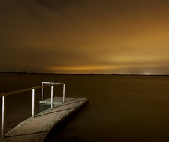 Lake Grapevine (cold arc) Tags: lake lightpainting night clouds dock flash grapevine