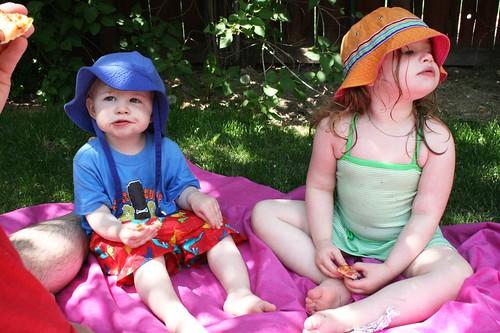 a swim and a picnick