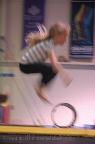 Sarah jumps