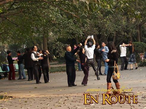 Dancing at the park