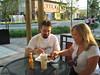 Alfresco dining at Qdoba