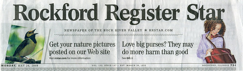 Rockford Register Star With My Photo