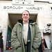 Simon Hughes at Borough Market in his constituency