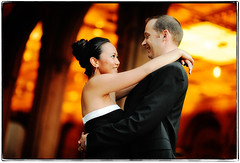 As Clichs Catch Fire (Ryan Brenizer) Tags: nyc newyorkcity wedding orange woman man love smile engagement nikon centralpark july gothamist 2008 d3 85mmf14d removedfromnikkorfortags evaandcris