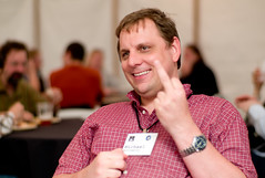 Michael Arrington (Joi) Tags: techcrunch finger thebird michaelarrington freesouls foocamp2008 places:locality=zjxia52bbzvak6ew