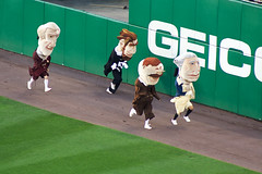 Washington Nationals Presidents Race at Nationals Park, by flickr member K Gifford