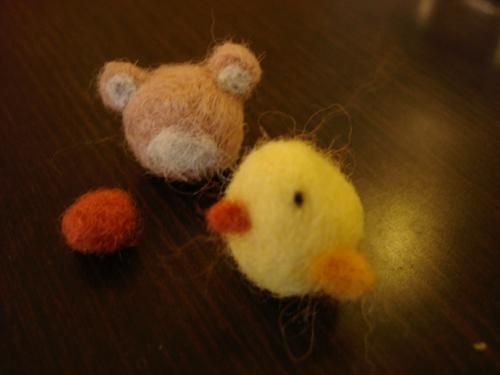 小熊頭半成品+小雞