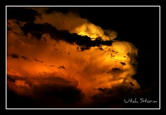 Utah storm / Viharfelh Utah-ban (butacska) Tags: travel autumn sunset sky orange storm color nature colors clouds gold utah photo outdoor sony photograph naplemente termszet szn kirnduls fotzs srga narancs sznek gbolt sonyalpha termszetfot