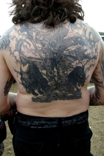 Iced Earth tattoo at Graspop - Dessel, Belgium