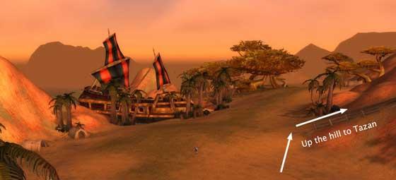 Tazan's location