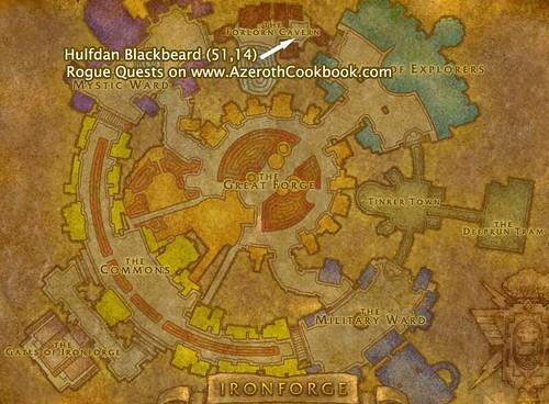 Map to Hulfdan Blackbeard