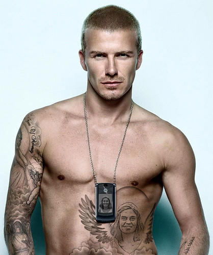 Can you recognize celebrity permanent make up? David Beckham Tattoo