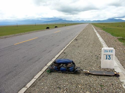 Qinghai Province Highway 204 east of Reshui, Qinghai Province, China