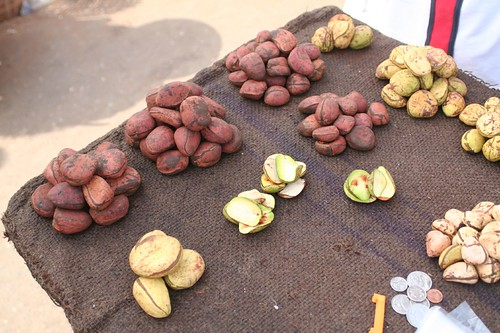 Cola nuts in the street market in Kumasi