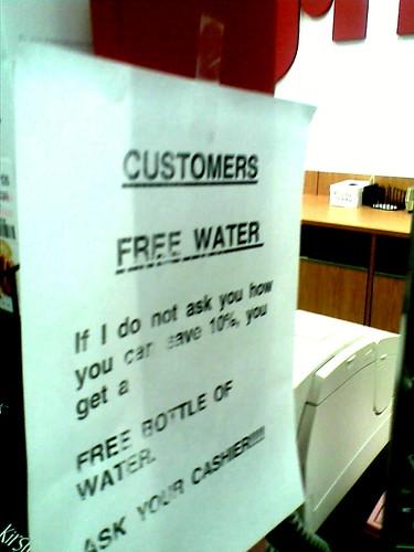 TJ Maxx: Free Water
