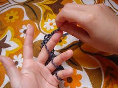 Tricô de dedo 8