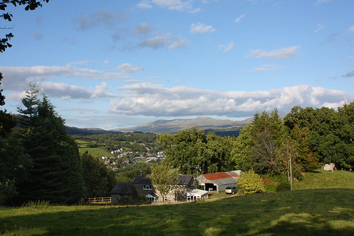 Dolgellau in the distance