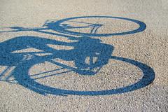 nobody's shadow (adudi) Tags: sunset shadow summer italy sun bike bicycle sport mystery italia shot empty ghost riding mysterious shot2 sporting owner padova argine piovego bacchiglione nikond40 impressedbeauty