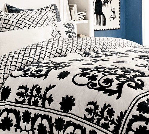 pottery barn lanai quilt and sham black