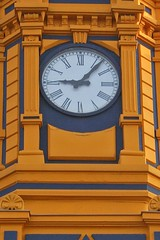 IMG_2213m (matteo_dudek) Tags: clock architecture travels bilbao campanile orologio viaggi architettura euskadi bilbo basquecountry yellowblue gialloblu photofaceoffwinner photofaceoffsilver pasvasco paesebasco pfosilver