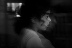seeing through  (Khaled!) Tags: portrait bw girl monochrome kids child noiretblanc monotone enfant fille  digitalcameraclub  blackwhitephotos   memorycornerportraits  theinterestingshotbw