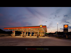 Shell station - Golden hour? (nfirdaüs Abdüllah فردوس عبدالله) Tags: sunset architecture sunrise landscape photography gold nikon highway shoot shot diesel bokeh candid petronas wide shell wideangle snap nikond50 tokina shutter click petrol f56 capture asar f28 f4 hdr 31st goldenhour puchong hdri lense lenses petroleum petrolstation arkitek videography shellstation bukitjalil photophotos superwide august31st architec maghrib goldenmoment isyak 31staugust 1116mm nikond50user fardhu