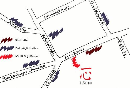 Parkmöglichkeiten in der Nähe des Dojos