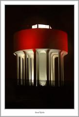 Drumchapel Water tower in red (flatfoot471) Tags: red night scotland glasgow watertower drumchapel