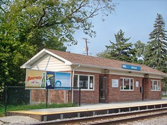 The Metra commuter rail station in Medinah Illinois. september 2007.
