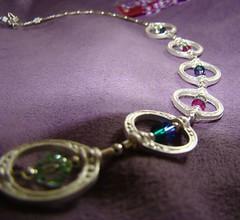 wedding necklace macro