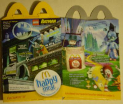 Lego Batman Happy Meal box #1
