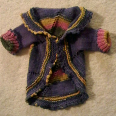 Another baby pinwheel sweater