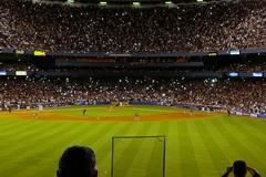 Flashbulbs at (the old) Yankee Stadium