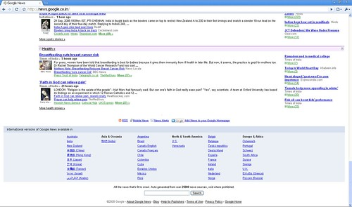 Google News India new layout bottom
