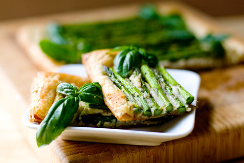 Asparagus and White Bean Pesto Tart
