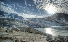 Glacier in Greenland (wili_hybrid) Tags: trip travel summer vacation sky holiday snow nature water landscape geotagged outside outdoors photo yahoo high nikon rocks europe flickr european exterior dynamic photos outdoor north picture august pic glacier arctic journey greenland wikipedia imaging nordic d200 rts scandinavia northern mapping 2008 range geotag tone hdr scandinavian hdri photomatix nikond200 tonemapped tonemapping interestingness130 tasiilaq highdynamicrangeimaging randomtravelerssociety year2008