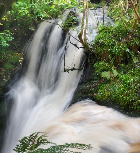 Fairlie Castle waterfalls