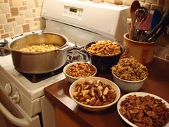 Nuts at attention - waiting their turn (JeffreyWiden) Tags: kippur yom rosh hashanah teiglach taiglach