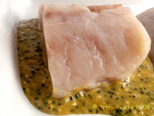 fish in marinade