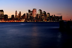 (pmarella) Tags: city nyc newyorkcity longexposure sky urban usa newyork color water skyline clouds reflections river landscape lights newjersey solitude cityscape shadows manhattan nj silhouettes 5d whatever viewlarge pmarella hudsonriver lamplight hoboken donttrythisathome hudsoncounty amomentintime eos5d throughmyglasseye ef70200mmf4lusm riverviewpkproductions myeyeshaveseenthis